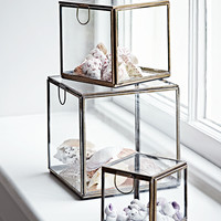 NEW Three Glass Display Cubes