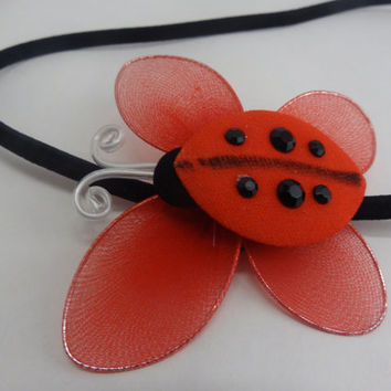 Lady Bug Headband, Bee Headband, Cute Nylon Handcrafted
