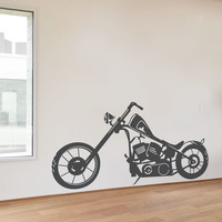Bobber Motorcyle Wall Decal