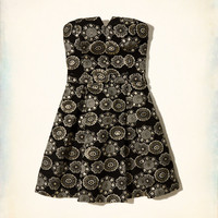 Shine Jacquard Skater Dress