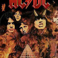 AC/DC Poster Flag Highway To Hell Logo Tapestry
