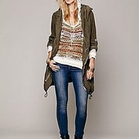 Free People  Lace Hood Pullover at Free People Clothing Boutique