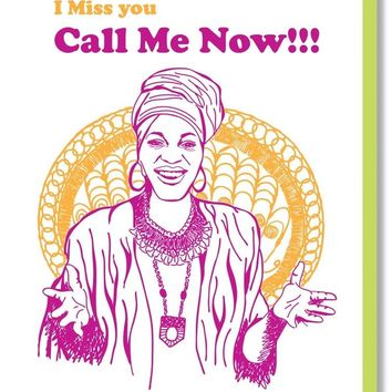 I Miss You Call Me Now Miss Cleo Card