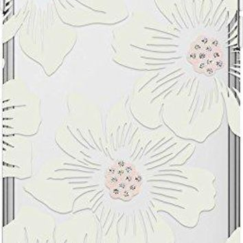 Kate Spade New York iPhone 7/iPhone 6 Hollyhock Floral Clear Cream with Stones