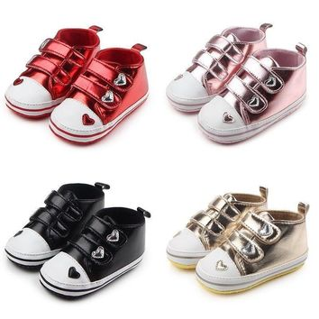 Infant Baby Boy Girl Soft Sole Pram Shoes Casual Sneakers Newborn to 12 Months
