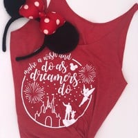 Disney Inspired Do As Dreamers Do Women's Tank