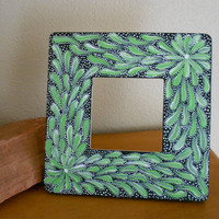 Painted Frame Green and Black by Acires on Etsy