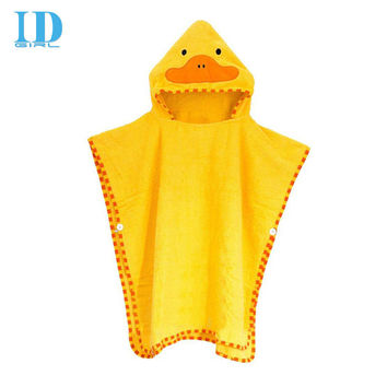IDGIRL New Arrival Baby Towel Bath Towel Cartoon Duck Protect Lovely Hooded Towel For Babies Cloak Yellow cloth  YE0012