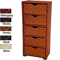 Natural Fiber 41.5-inch Chest of Drawers (China) | Overstock.com
