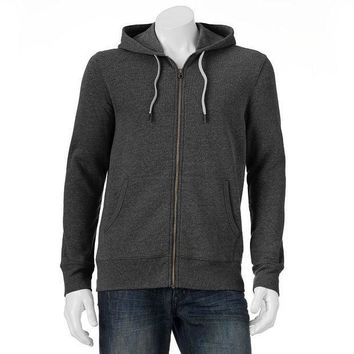 Sonoma Life + Style Fleece Zip Up Hoodie   Big & Tall Size: