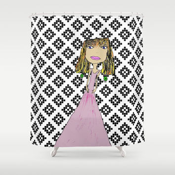 Pink Lady from Casablanca Shower Curtain by Azima
