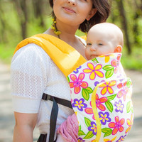 "Cozy Baby Carrier / Multi-functional Sling / ""Summer"" - Nap Bag by Bagy"