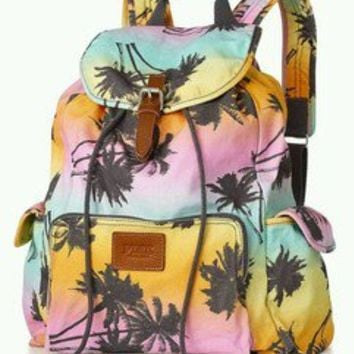 VICTORIA SECRET TROPICAL ISLAND PALM TREES BACKPACK TOTE BAG LOVE PINK 2013 NEW
