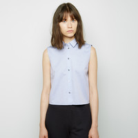 Cotton Poplin Sleeveless Shirt by T by Alexander Wang