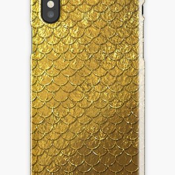 'Golden mermaid pattern ' iPhone Case by Quaintrelle