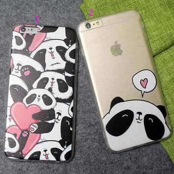 Panda Case Ultrathin Cover for iPhone 5 6 6s Plus