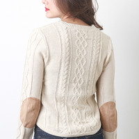 Elbow Patch Knit Sweater