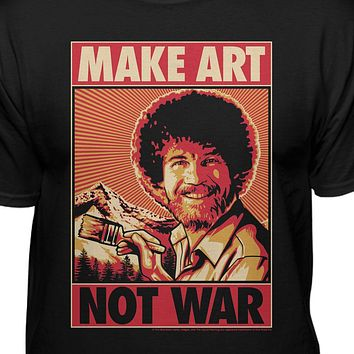 Bob Ross Make Art Not War Official T-shirt