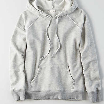 AEO Washed Classic Hoodie, Light Gray