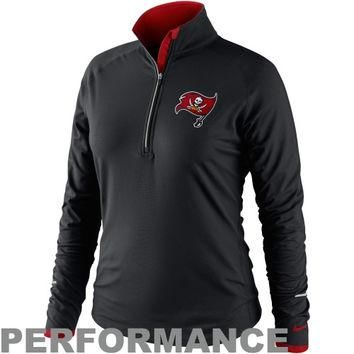 Nike Tampa Bay Buccaneers Ladies Conversion Half Zip Performance Jacket - Black