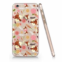 Cute Fox Pattern Pattern Slim Iphone 7/8 Case, Clear Iphone Hard Cover Case For Apple Iphone 7/8 Emerishop (iphone 7/8)