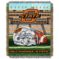 Oklahoma State Cowboys NCAA Woven Tapestry Throw (Home Field Advantage) (48x60)