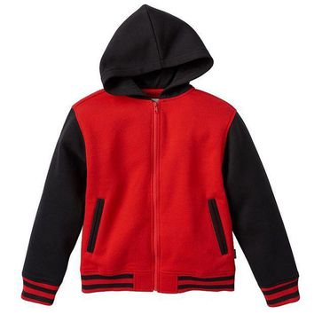 MDIGPL3 Varsity Fleece Full-Zip Hoodie - Boys 8-20 Size