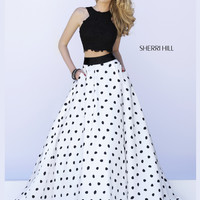 Sherri Hill Lace Crop Top Prom Dress 32215