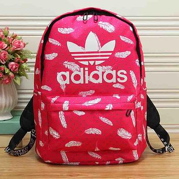 ADIDAS Woman Men Fashion Feather Backpack Shoulder Bag Bookbag