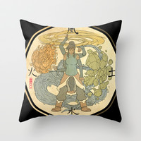 The Avatar State Throw Pillow by Michael Matsumoto