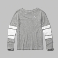 long-sleeve football tee