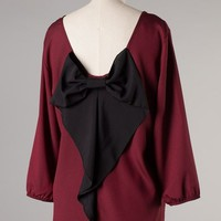 Running (Bow) Back Top - PLUS - Maroon/Black - Kiki La'Rue
