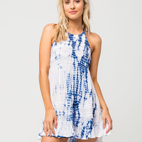 EN CREME Tie Dye Halter Dress | Short Dresses