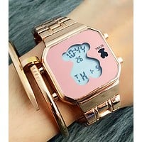 Tous Fashion Woman Casual  Quartz Movement Watch Wristwatch Gold W-Fushida-8899