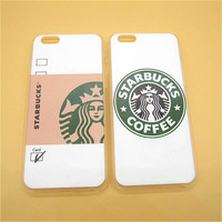 Hot Sale Fashion Starbuck Coffee Plastic Slim Back Cover Skin for Apple iPhone 6 6s plus 5.5'' Ultra Thin Hard Phone Case Shell