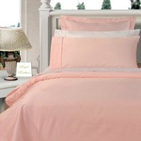 Blush Twin XL Combed cotton Solid 3Pieces Alternative Comforter set