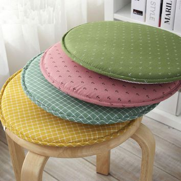 Japan Style Decorative Circular Plaid Anchor Printed Taboret Seat Cushion Chair  Bar Stool Cushion Home Decor Supplies