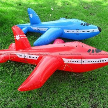 ICIK272 2pcs 60cm Inflatable Aeroplane Blow Up Airplane Kid Child Toy Party Decoration Random Colors 70114304