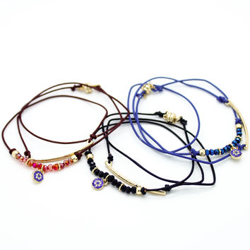 Evil eye layer bracelet (3 colors)