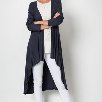 Tahoe Ribbed Duster Cardigan !