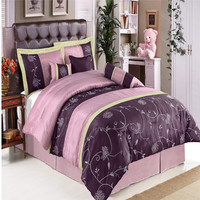Grand Park Purple 11-Piece Bed in a Bag