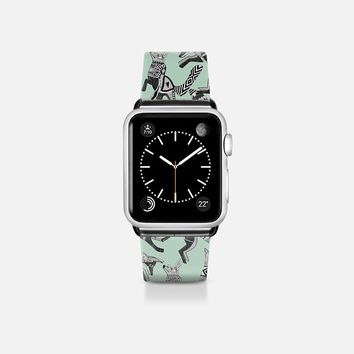 woodland fox party mint apple watch band Apple Watch Band (38mm) by Sharon Turner | Casetify