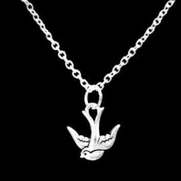 Swallow Bird Animal Gift Charm Necklace