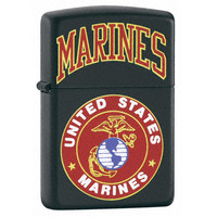 Zippo 218539 Classic US Marines Black Matte Windproof Pocket Lighter