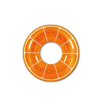 Inflatable Orange Slice Pool Tube Float  42-Inch