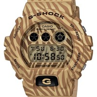 Men's G-Shock Zebra Print Digital Watch, 53mm - Tan