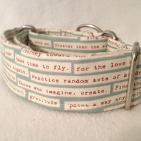 Odds & Ends Happy Thoughts Martingale or Quick Release Collar
