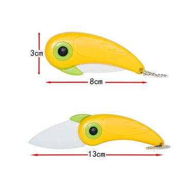 Mini Bird Ceramic Knife Gift Knife Pocket Ceramic Folding Knives Kitchen Fruit Paring Knife With Colourful ABS Handle Hot