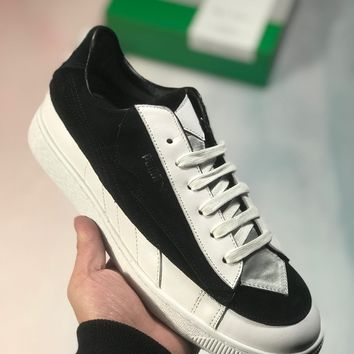 Kuyou Fa19630 Lagerfeld X Puma Suede Classic Sneakers Black 366314-01 From Karl Lagerfeld