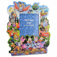 disney parks wdw paper mickey and friends storybook picture frame new